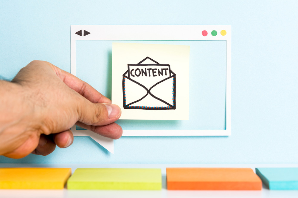 content and email