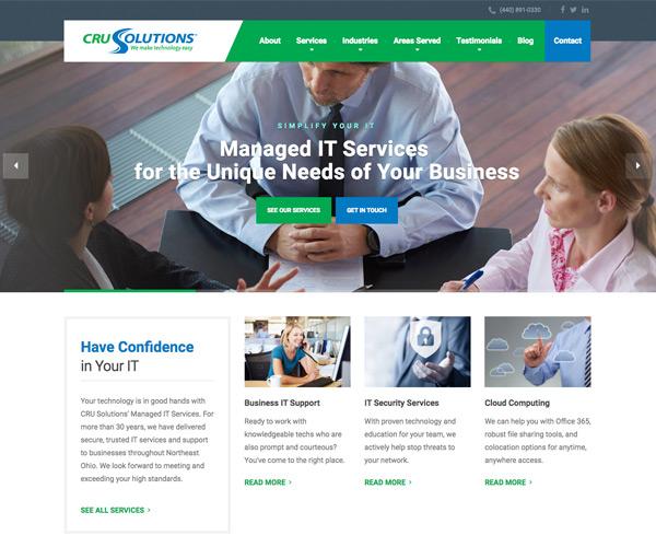 CRU Solutions Website