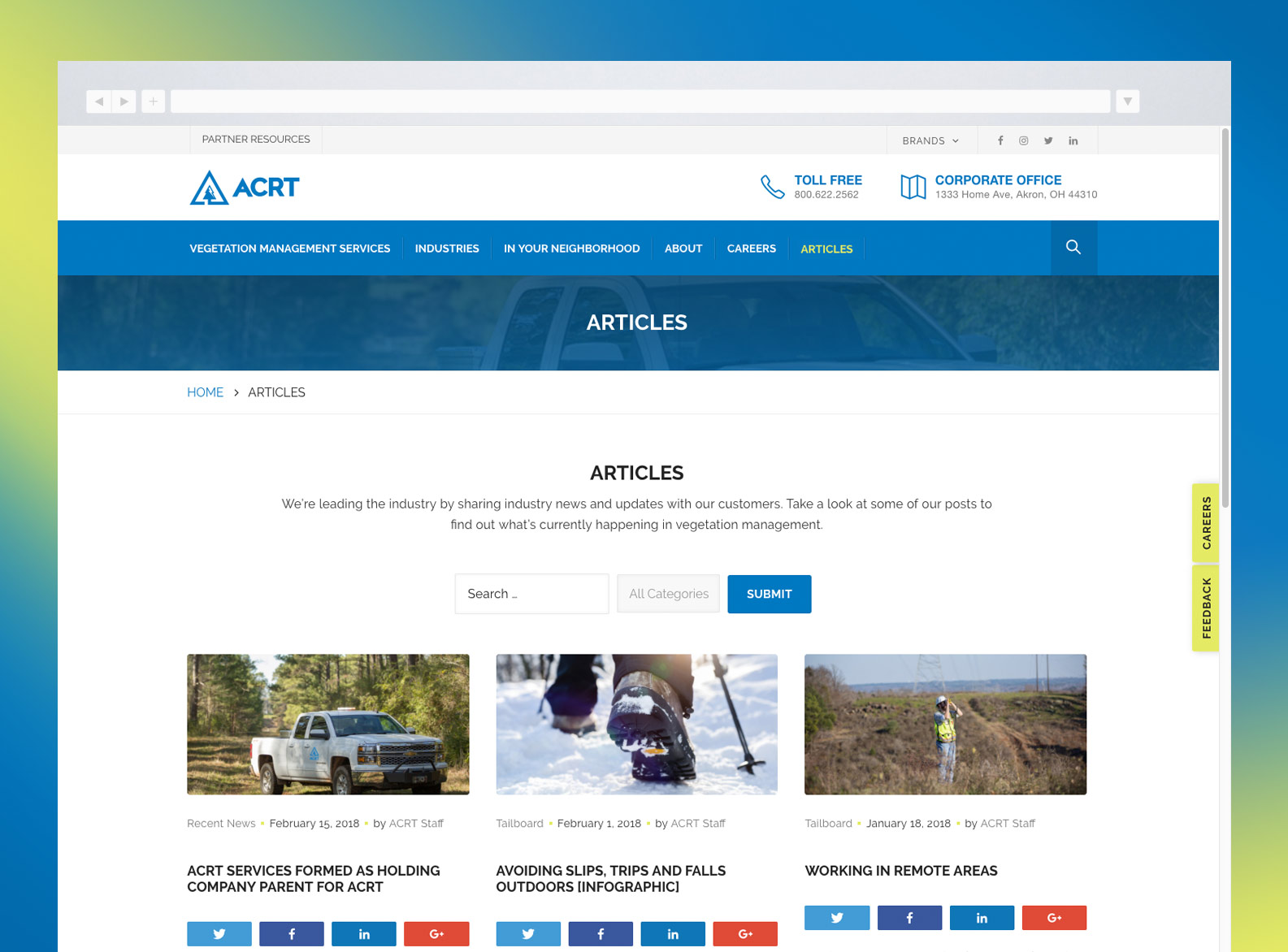 ACRT Articles Page