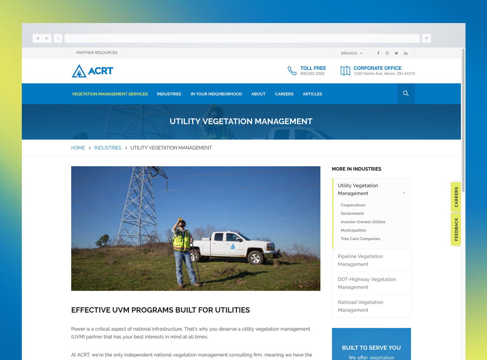 ACRT Service Detail Page