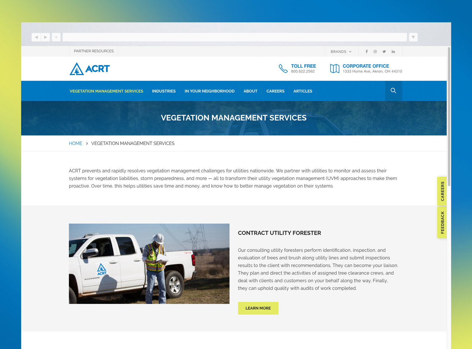 ACRT Services Page