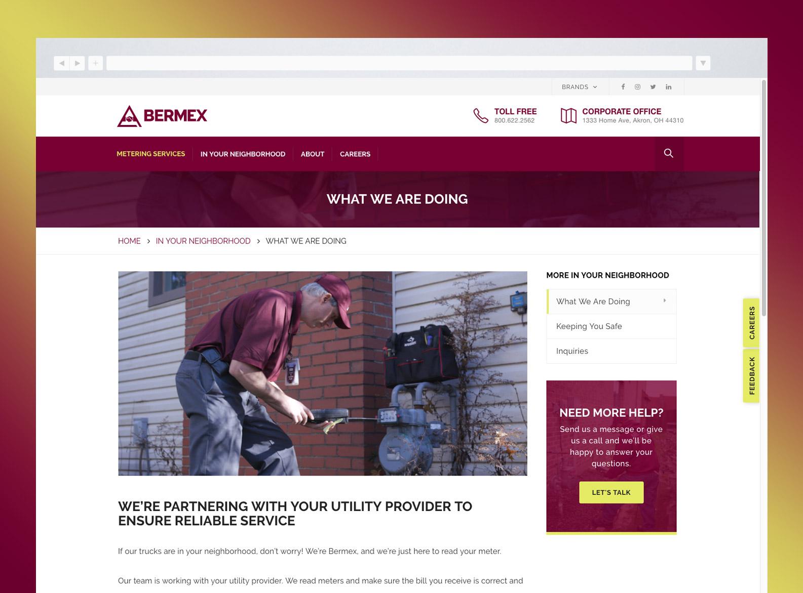 Bermex Service Detail page