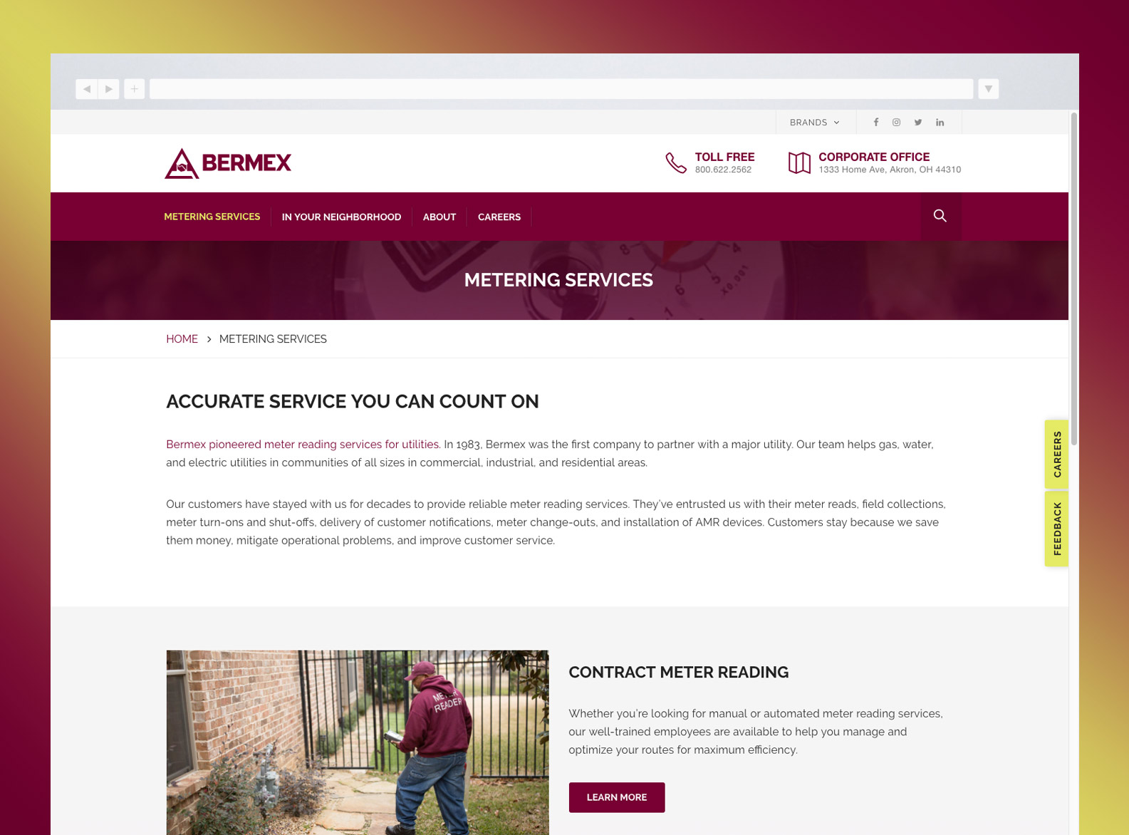 Bermex Services page