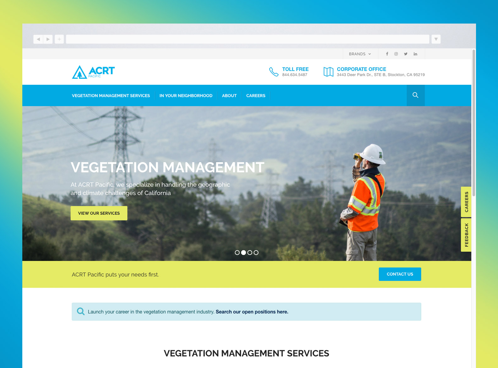 ACRT Pacific Website