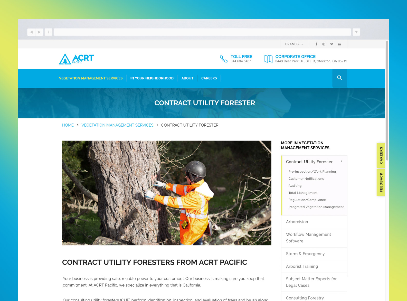 ACRT Pacific Website Services Detail