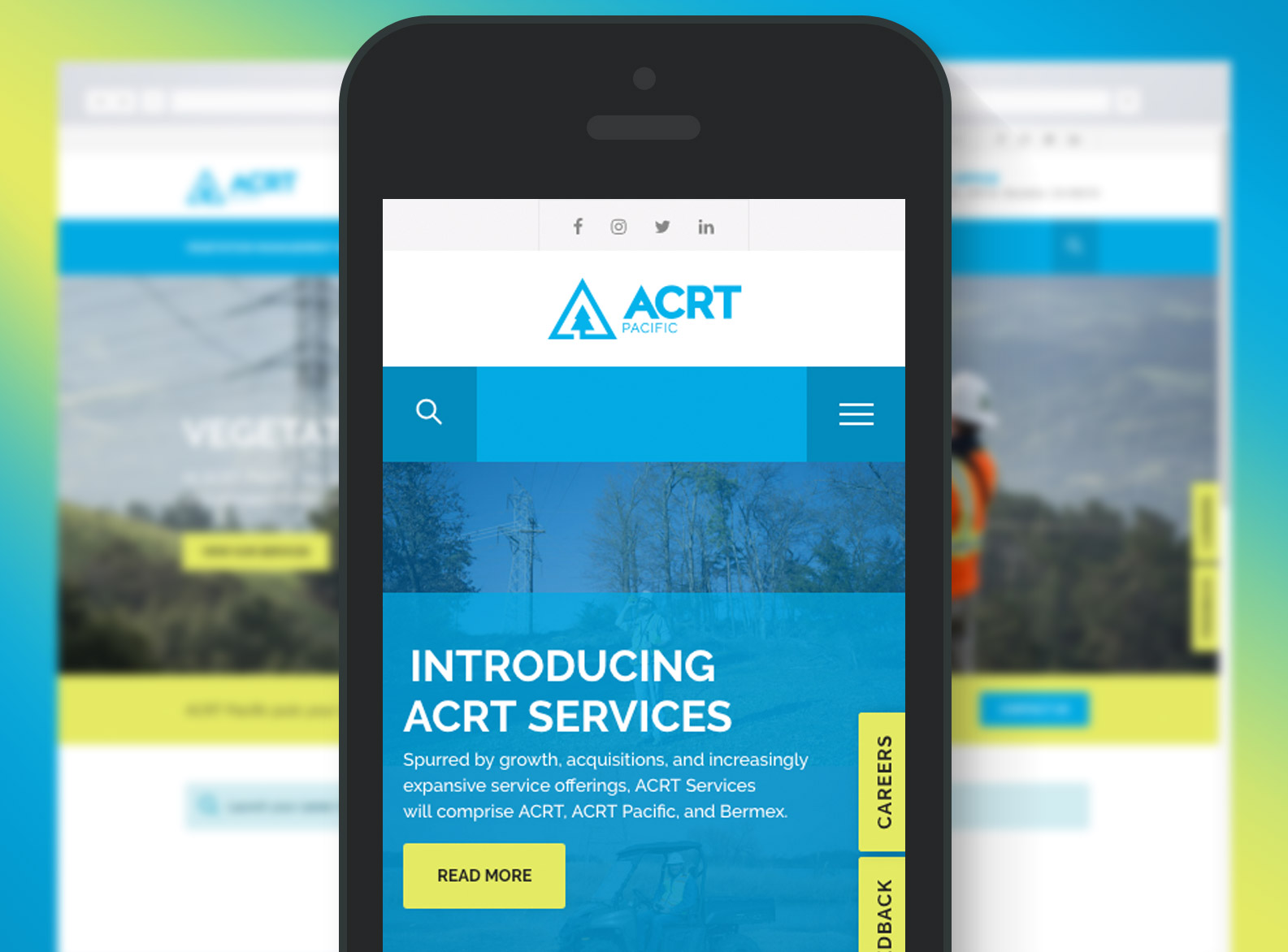 ACRT Pacific Website Mobile