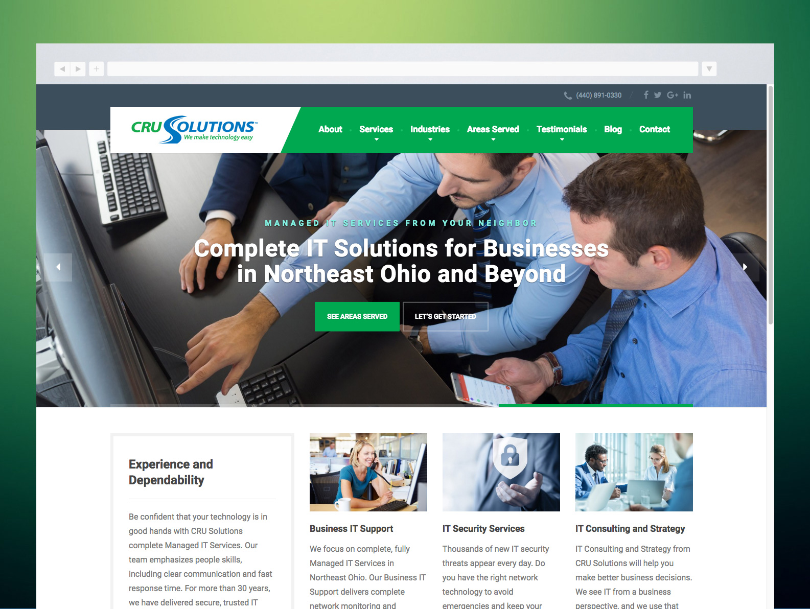 CRU Solutions Website