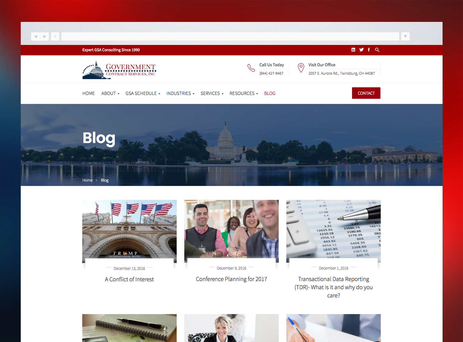 Government Contract Services Website Blog