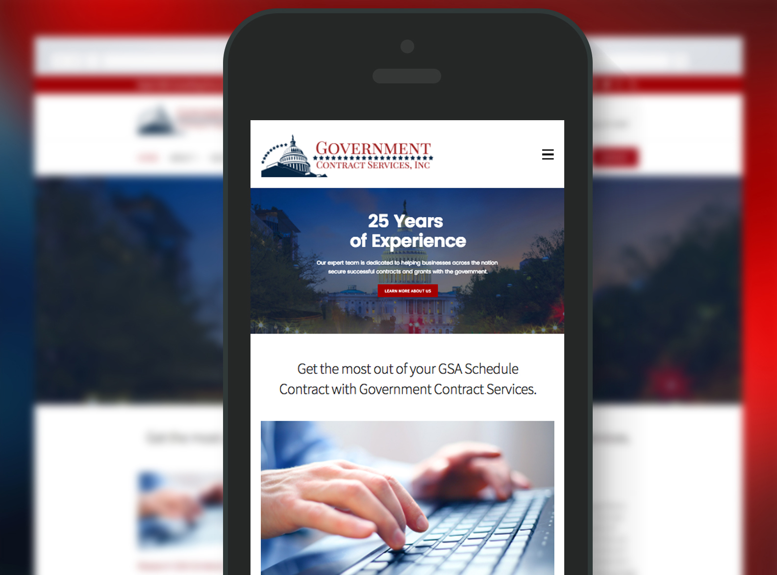 Government Contract Services Website Mobile