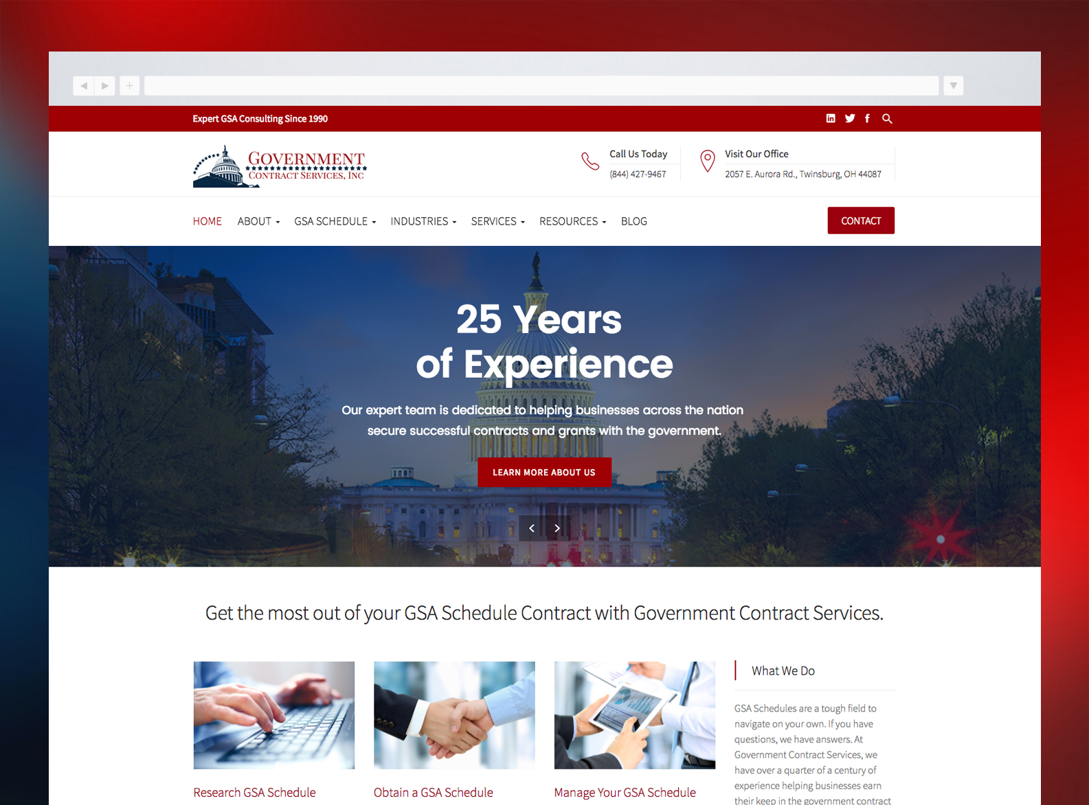 Government Contract Services Website