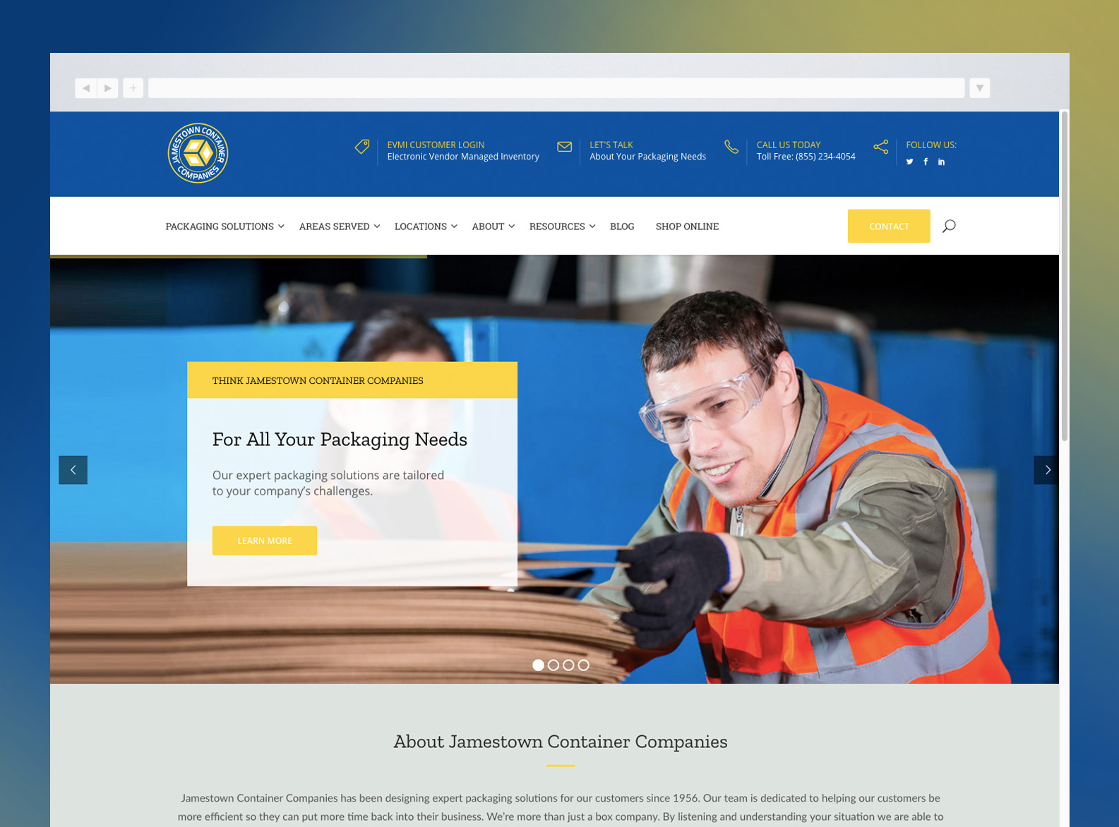 Jamestown Container Companies Website