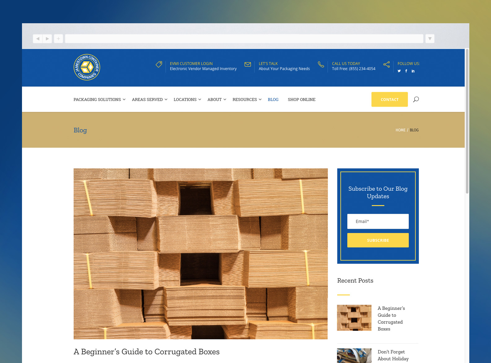 Jamestown Container Companies Website Blog