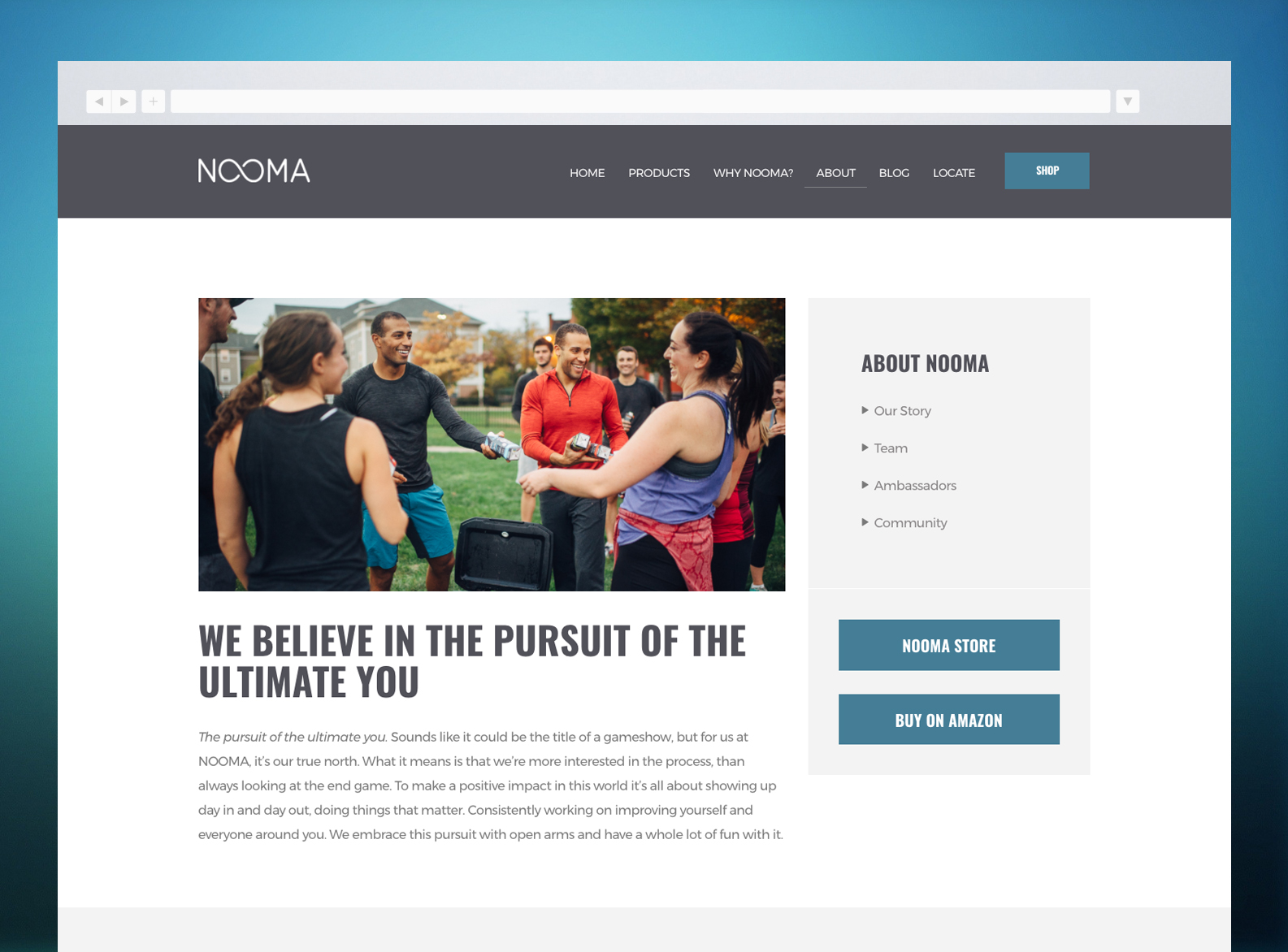NOOMA Website Page