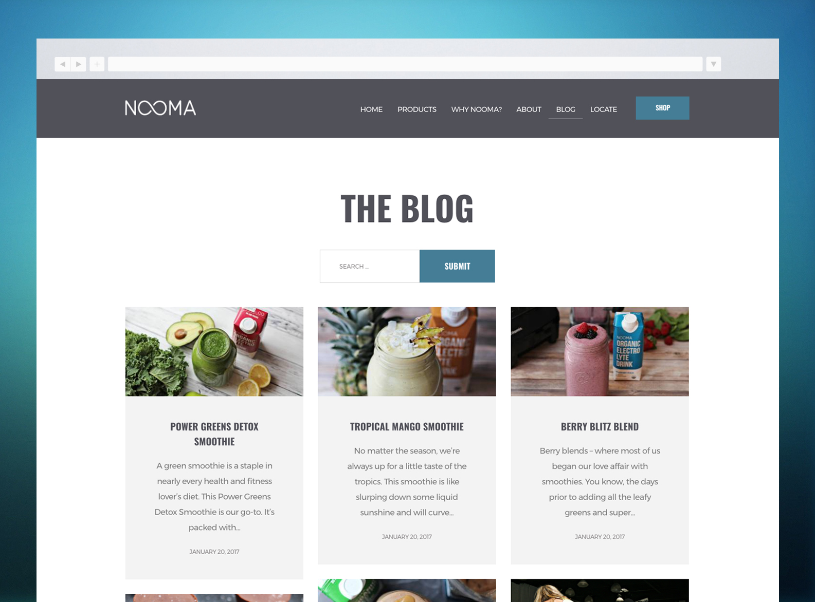NOOMA Website Blog
