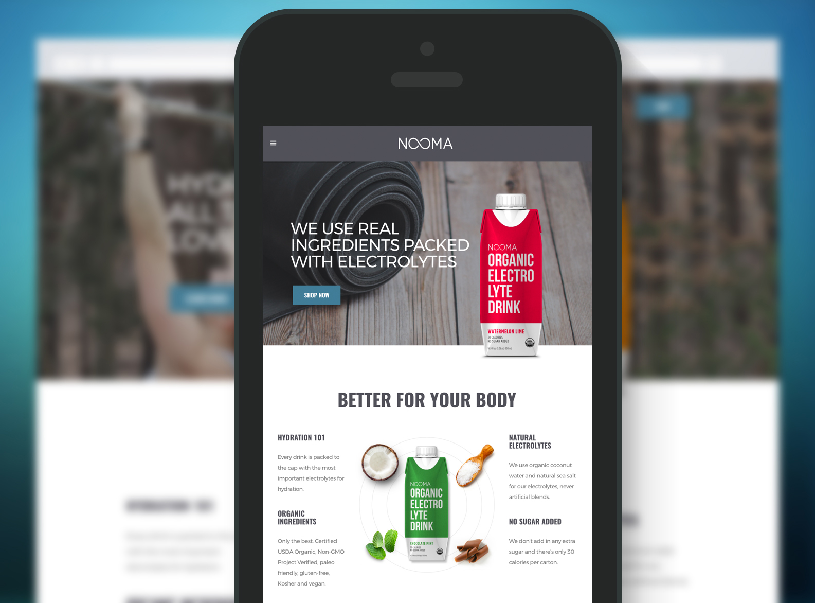 NOOMA Website Mobile