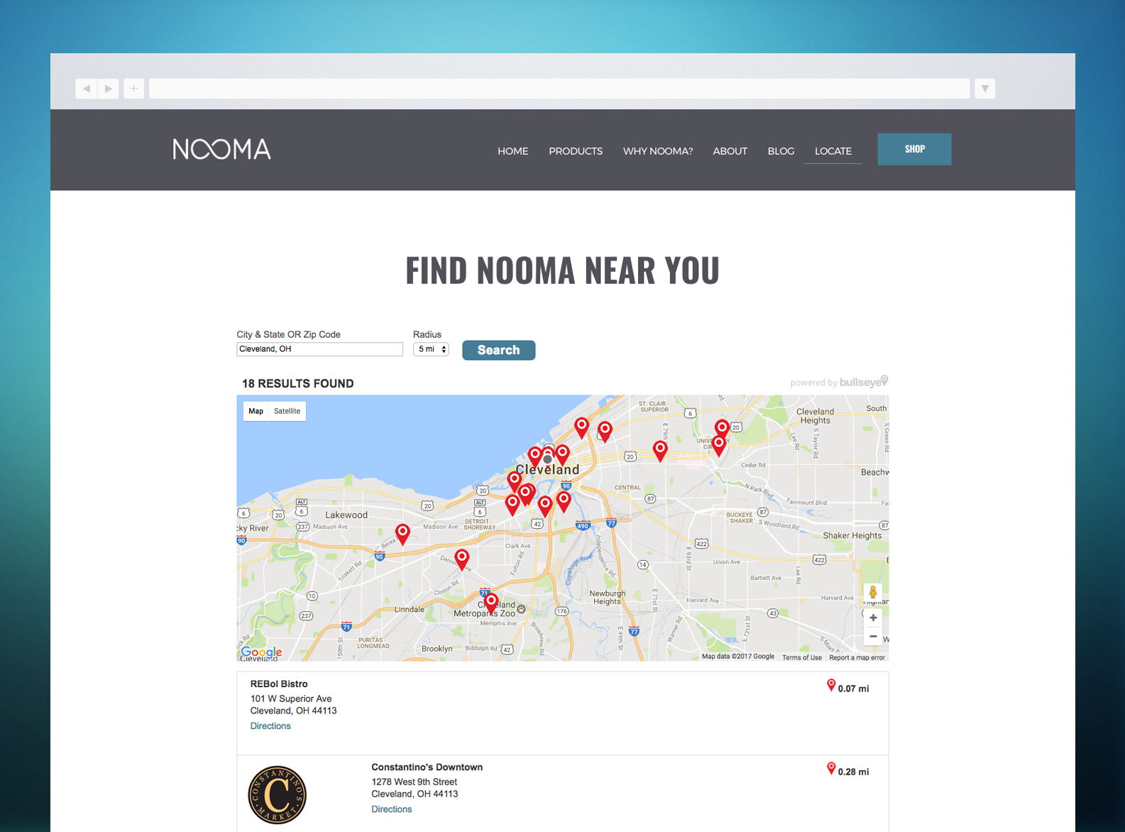 NOOMA Website Locator