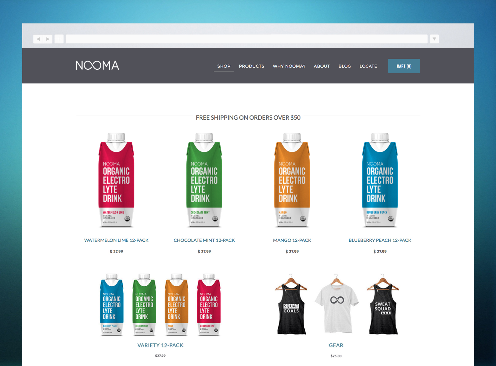 NOOMA Website Shop