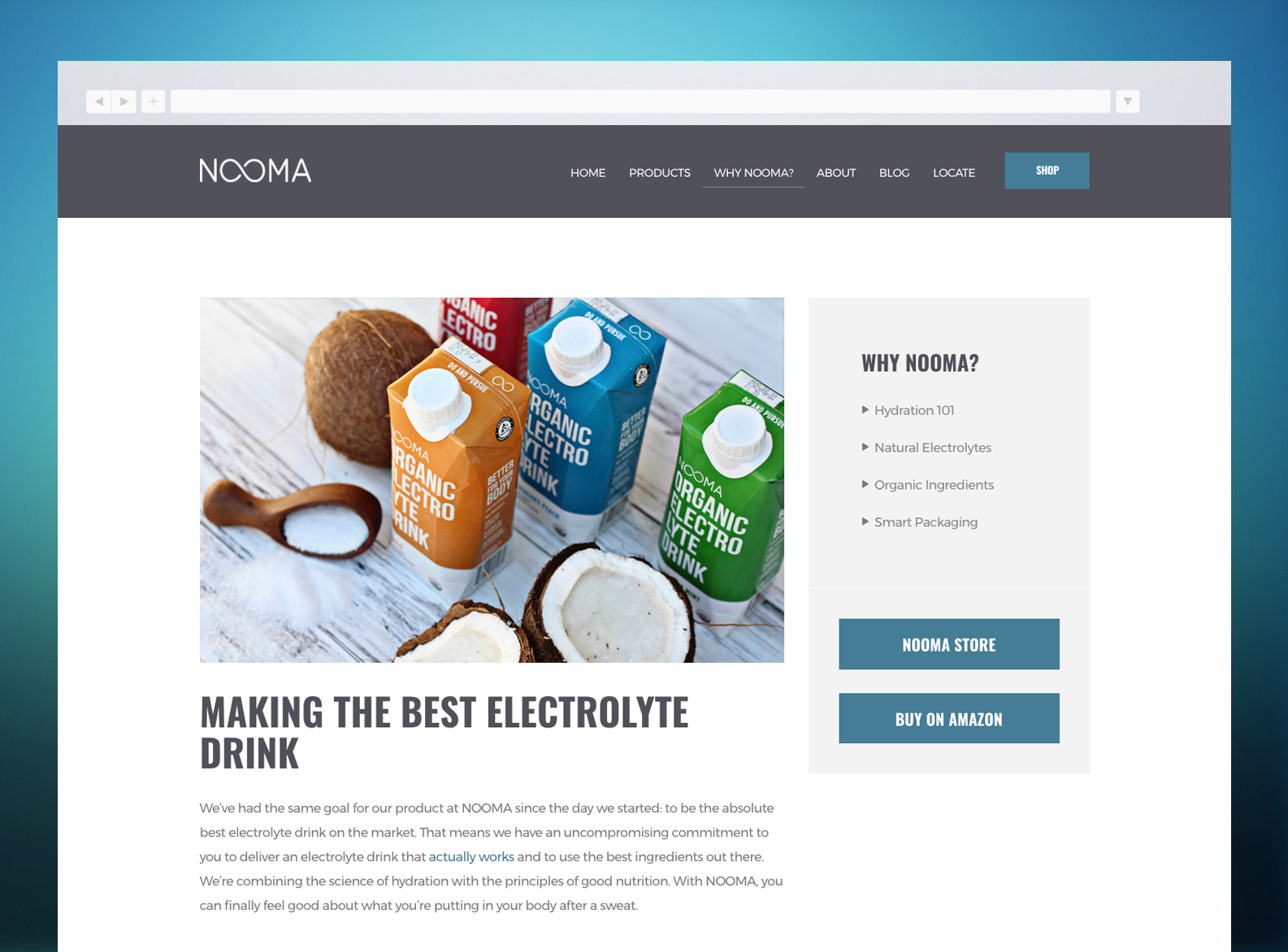 NOOMA Website About