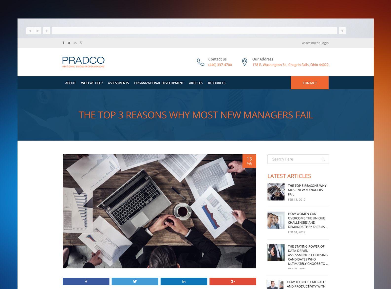 PRADCO Website Blog