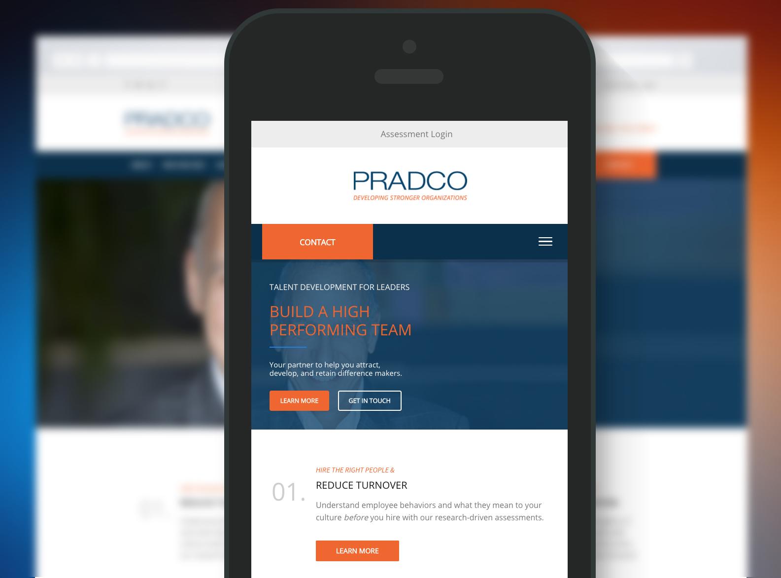 PRADCO Website Mobile