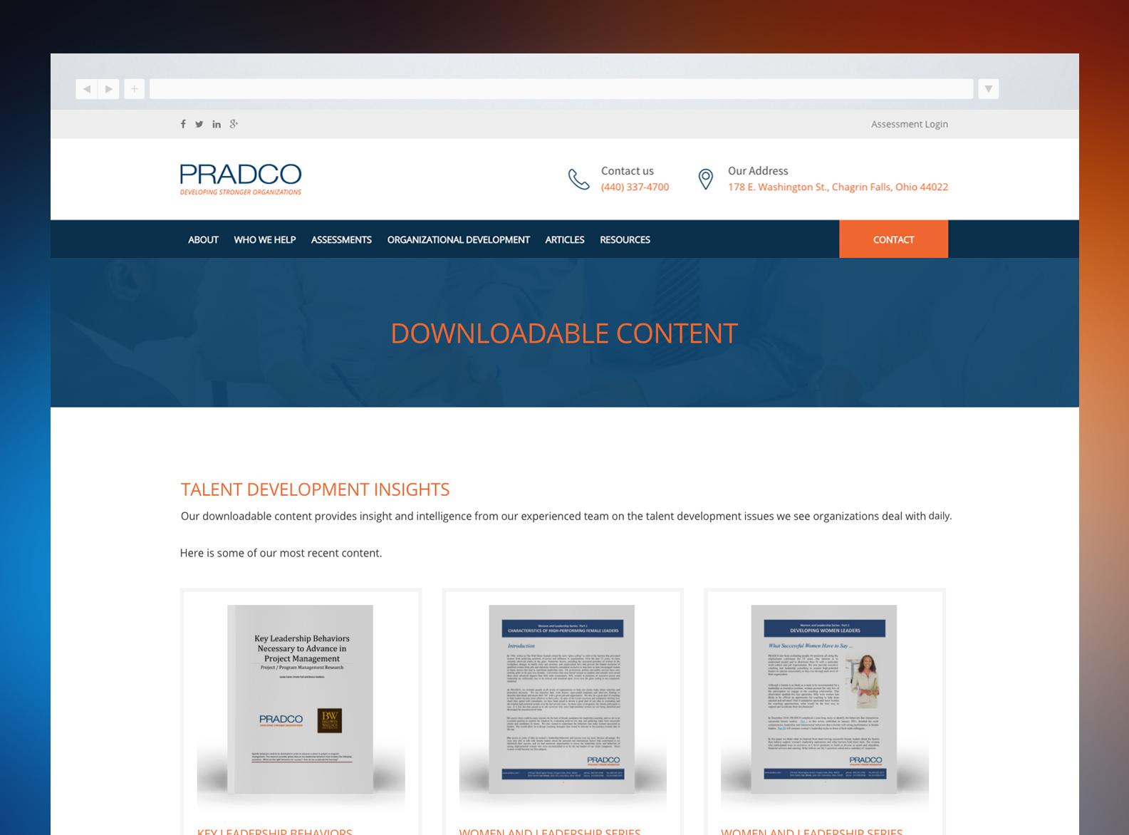 PRADCO Website Resources